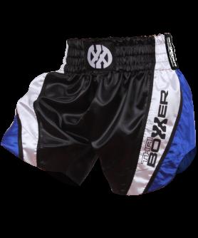 Thai Boxing Shorts - BLUE CURVE