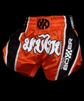 Thai Boxing Shorts - ORANGE/ BLACK