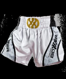 Thai Boxing Shorts - Thai Flow White