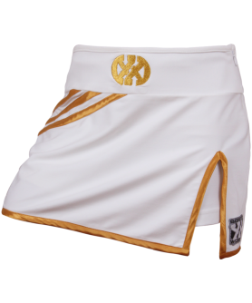 Skirts with Hotpants - Kick it Skirt White Gold